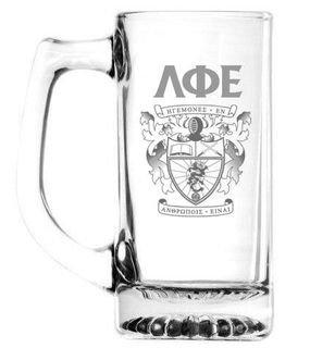 Lambda Phi Epsilon 13 oz Glass Engraved Mug
