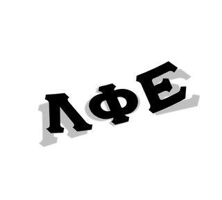 Lambda Phi Epsilon Big Greek Letter Window Sticker Decal