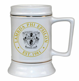 Lambda Phi Epsilon Ceramic Stein