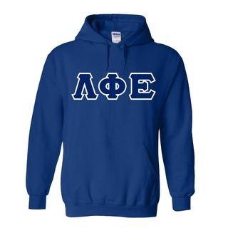Lambda Phi Epsilon Custom Twill Hooded Sweatshirt