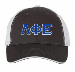 Lambda Phi Epsilon Double Greek Trucker Cap