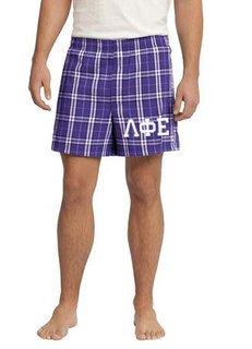 Lambda Phi Epsilon Flannel Boxer Shorts