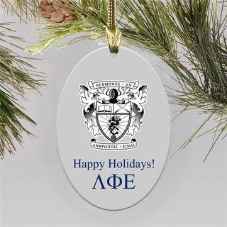 Lambda Phi Epsilon Holiday Color Crest - Shield Ornament
