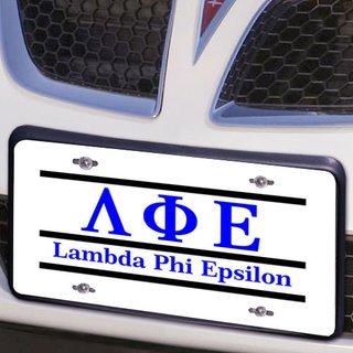 Lambda Phi Epsilon Lettered Lines License Cover