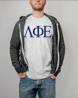 Lambda Phi Epsilon Lettered Shirt