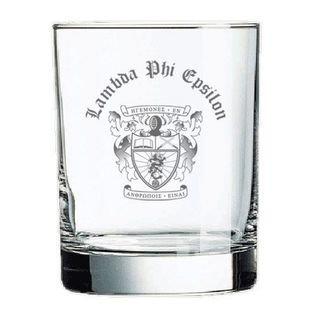Lambda Phi Epsilon Old Style Glass