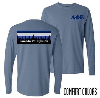Lambda Phi Epsilon Outdoor Long Sleeve T-shirt - Comfort Colors