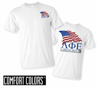 Lambda Phi Epsilon Patriot  Limited Edition Tee - Comfort Colors