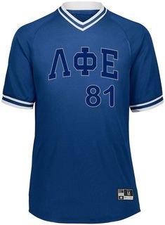 Lambda Phi Epsilon Retro V-Neck Baseball Jersey