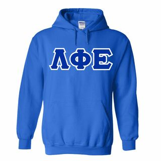 Lambda Phi Epsilon Sewn Lettered Hooded Sweatshirts