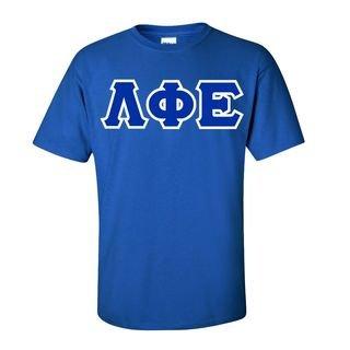 Lambda Phi Epsilon Sewn Lettered T-Shirt