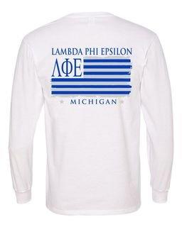 Lambda Phi Epsilon Stripes Long Sleeve T-shirt