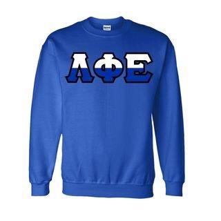 Lambda Phi Epsilon Two Tone Greek Lettered Crewneck Sweatshirt