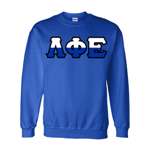 Lambda Phi Epsilon Two Tone Greek Lettered Crewneck Sweatshirt