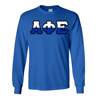Lambda Phi Epsilon Two Tone Greek Lettered Longsleeve Tee