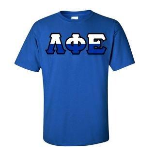 Lambda Phi Epsilon Two Tone Greek Lettered T-Shirt