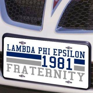 Lambda Phi Epsilon Year License Plate Cover