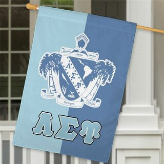 Lambda Sigma Upsilon Crest House Flag