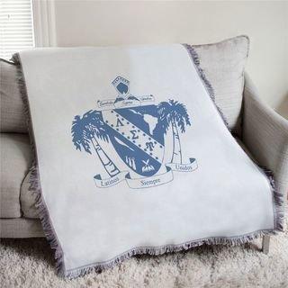 Lambda Sigma Upsilon Full Color Crest Afghan Blanket Throw