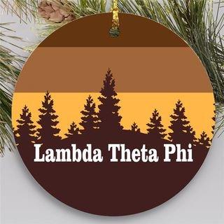 Lambda Theta Phi Christmas Mountains  Round Ornaments