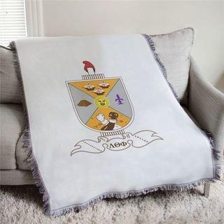 Lambda Theta Phi Full Color Crest Afghan Blanket Throw