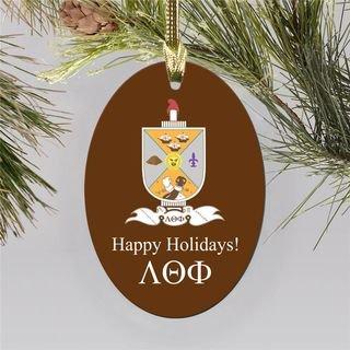 Lambda Theta Phi Holiday Color Crest - Shield Ornament