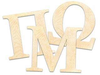 Laser Cut Wooden Greek Letters