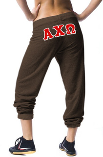 Lettered Sorority Sweatpants