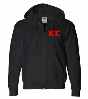 Lettered Zipper Hoodie