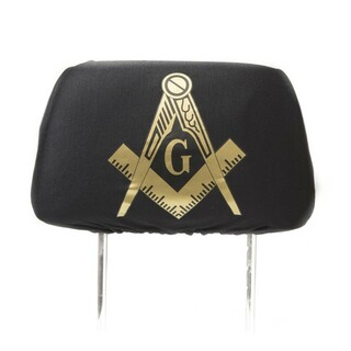Mason / Freemason Black Car Seat Headrest Cover