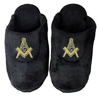 DISCOUNT-Mason / Freemason Black Solid Slipper