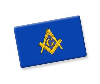 Mason / Freemason Ceramic Flag Magnet