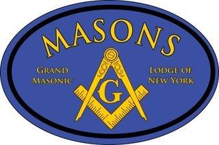 Mason / Freemason Color Oval Decal