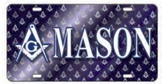 Mason / Freemason D9 Crest License Plates