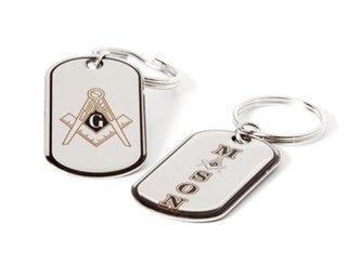 Mason / Freemason Dog Tag Keyring