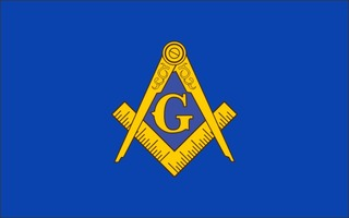 Mason / Freemason Flag Decal Sticker