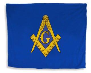 Mason / Freemason Flag Giant Velveteen Blanket