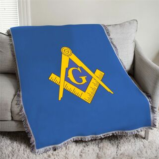 Mason / Freemason Full Color Crest Afghan Blanket Throw
