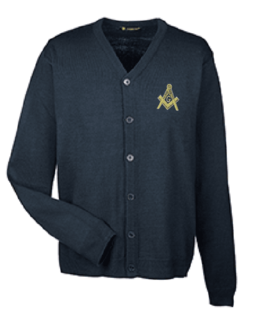 Mason / Freemason Letterman Cardigan Sweater