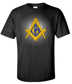 Mason / Freemason Logo With Starburst T-Shirt