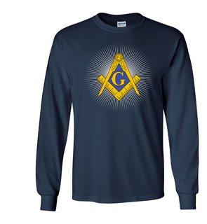 Mason / Freemason with Starburst Long Sleeve T-Shirt