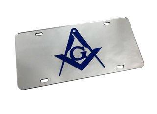 Mason / Freemason Mirrored License Plate Cover
