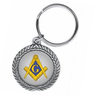 Mason / Freemason Pewter Key Ring