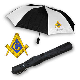 Mason / Freemason Umbrella Black and white