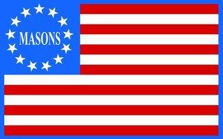 Mason / Freemasons American Flag Sticker