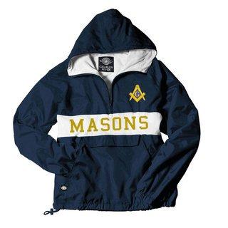Mason / Freemasons Charles River Custom Stripe Greek Pullover Anorak