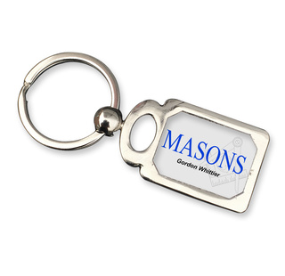 Mason / Freemasons Chrome Crest Key Chain
