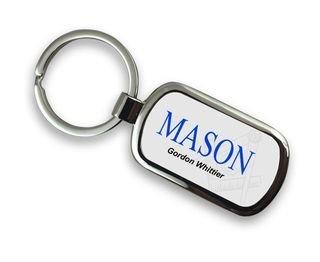 Mason / Freemasons Chrome Crest - Shield Key Chain