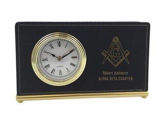 Mason / Freemasons Horizontal Desk Clock