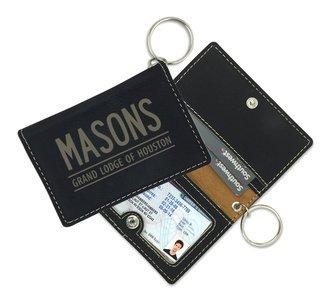 Mason / Freemasons Leatherette ID Key Holders